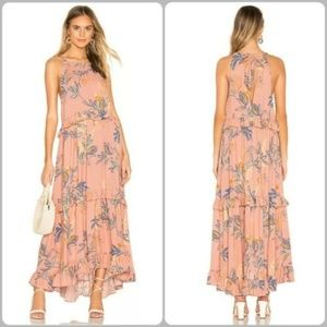 Free People Anita Tiered Floral Printed A-Line Max